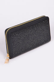 Wallet Mini Rhinestone Inset Black
