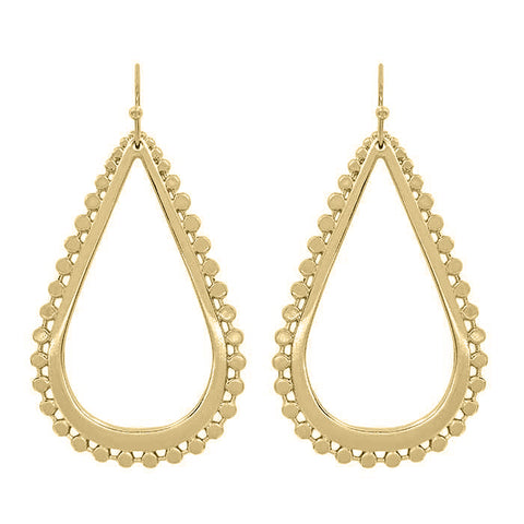 K-Nots Metal Teardrop Earring and Necklace Set Gold