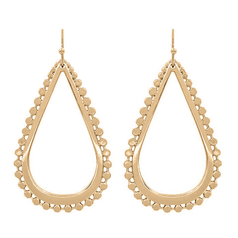 K-Nots Metal Teardrop Earring and Necklace Set Rose Gold