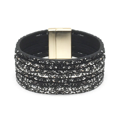Magnetic Sparkle Bracelet Black