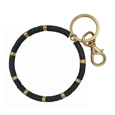 Beaded Keyring Black/Gold