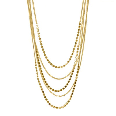 Layered Chain Necklace Gold