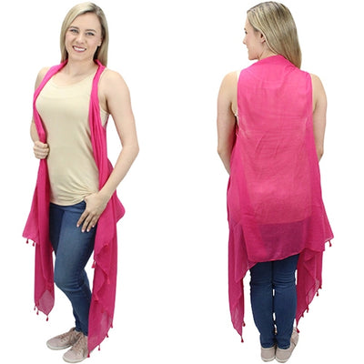 On Wednesdays We Wear Pink Tassel Vest