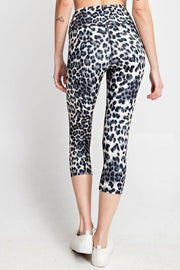 Capri Workout Set Grey Leopard
