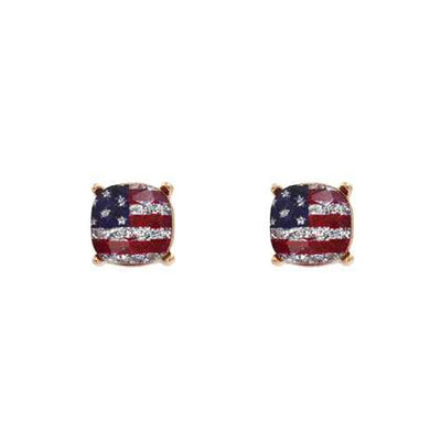 Flag Glass Stud Earrings