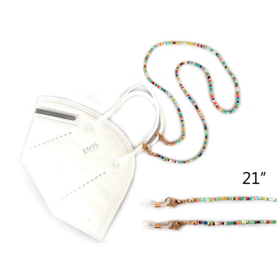 Beaded Mask Lanyard Multicolor