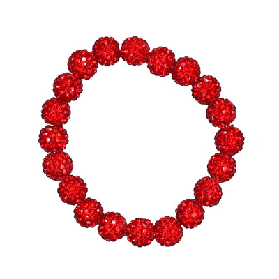 Red Bling Stretch Bracelet