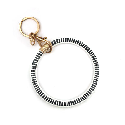 Beaded Keyring Black/White
