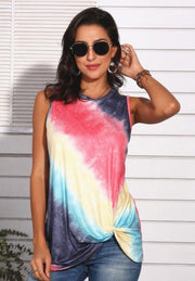 Red Tie Dye Twisty Tank