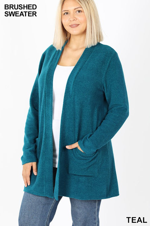 Zen Premium Pocket Cardigan Teal
