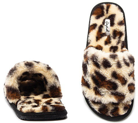 Kylo Black Faux Fur Slippers