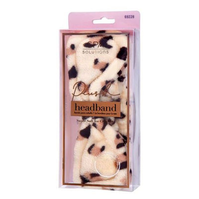Leopard Plush Spa Headband