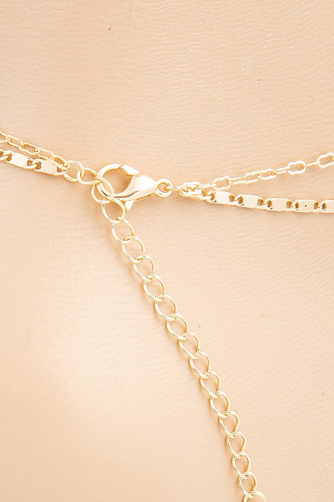 Dainty Star Layered Anklet Gold