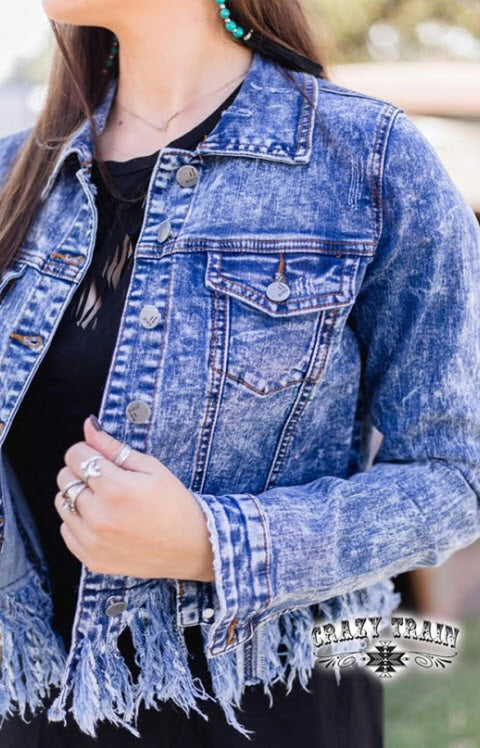 Denim Darling Fringe Jacket