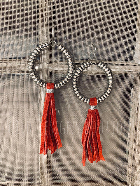 Rio Bravo Earrings Red