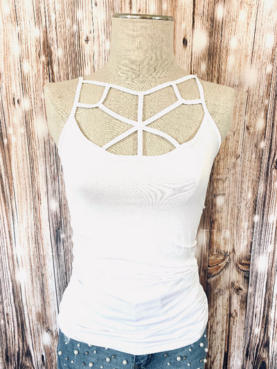 Spider Web Cami White