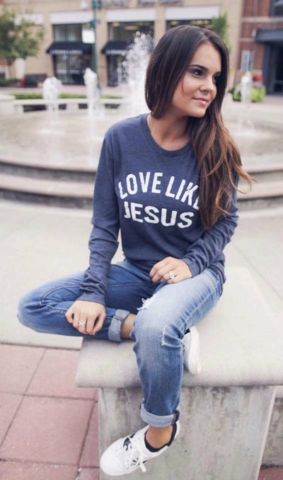 Love Like Jesus Long Sleeve Navy