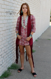 Crazy Train Red Patsy Plaid Tunic
