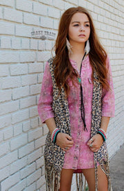 Crazy Train Pink Dolly Plaid Tunic