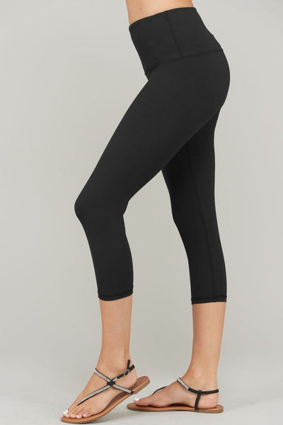 Butter Soft Capri Leggings Black