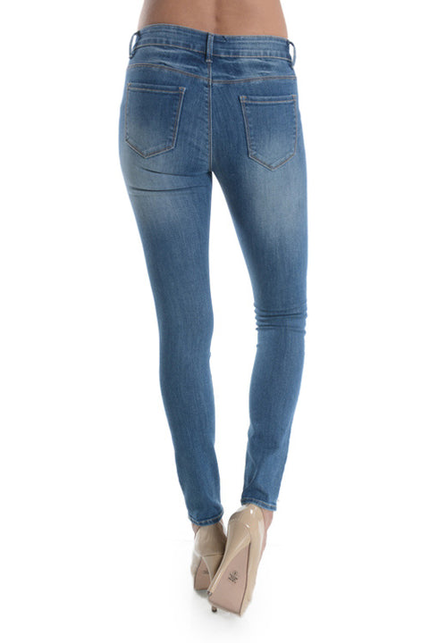 Nine Planet Distressed Skinnies