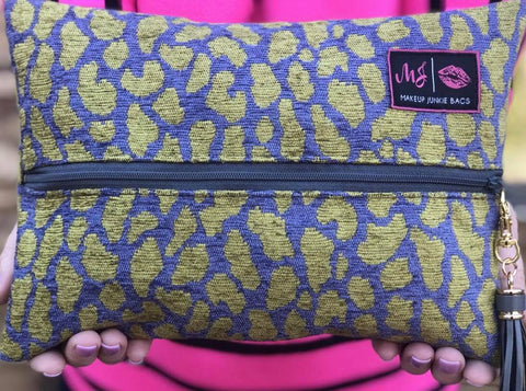 Makeup Junkie Bags Jungle Cheetah