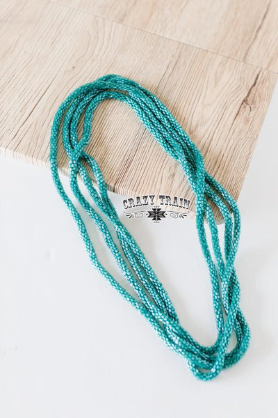Loopty Loo Necklace Teal