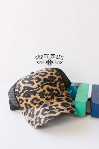 Hot Head Leopard/Black Trucker Hat