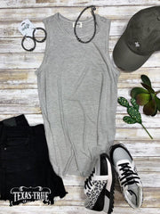 Striped Tank Grey/White