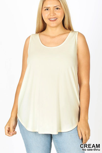 Zen Premium Tank Top Cream