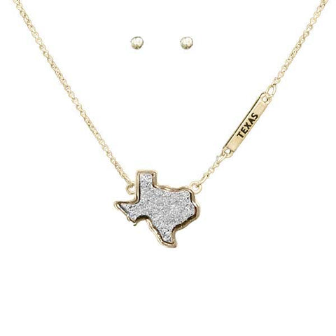 Druzy Texas Necklace Gold/Silver