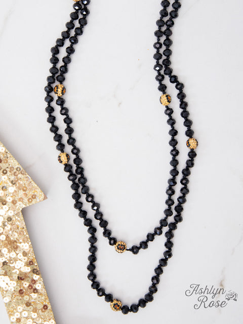 Curious Crystals Necklace Black