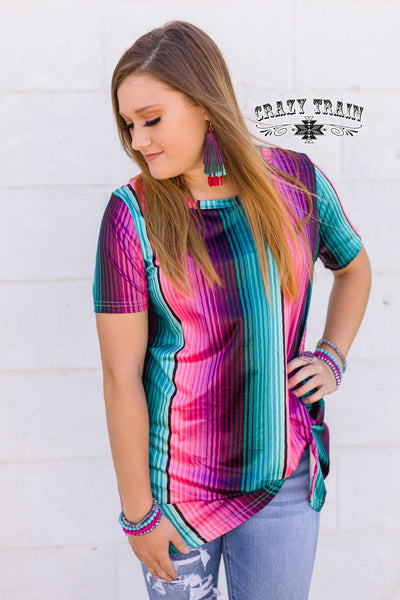 Not So Perfect Serape Knotty Top Reg & Curvy