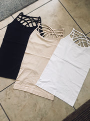 Criss Cross Cami Black
