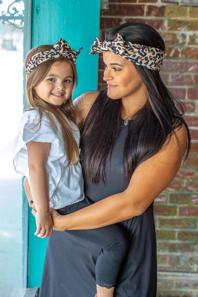 Mommy & Me Leopard Headband Set