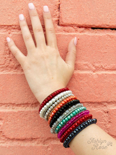 The Essential Stackable Bracelet Maroon
