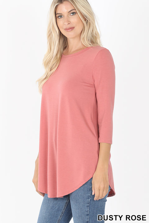 Zen Premium 3/4 Sleeve Dusty Rose