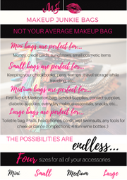 Makeup Junkie Bags In The Clear Red