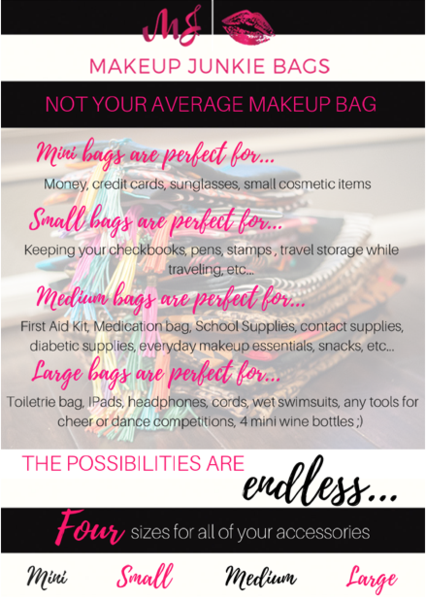 Makeup Junkie Bags Savannah