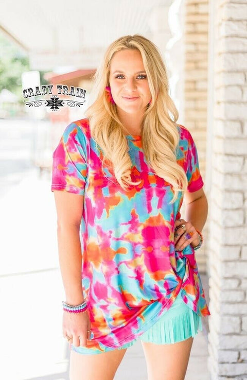 That 70's Tie Dye Knotty Top Reg & Curvy