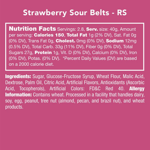 Strawberry Sour Belts Candy Club