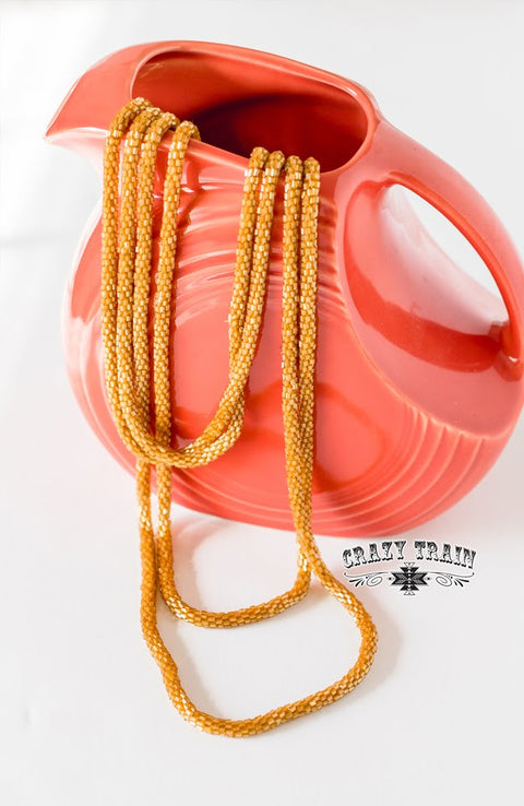 Loopty Loo Necklace Mustard