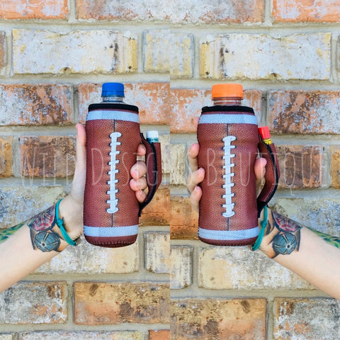 Football Water Bottle Pocket Handler