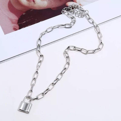Morgan Lock Necklace Silver