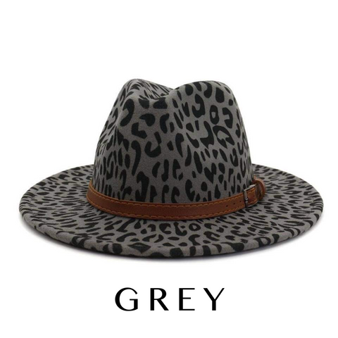 The Tulsa Hat Grey Leopard