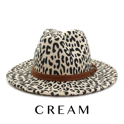 The Tulsa Hat Cream Leopard