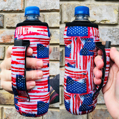 Old Glory Water Bottle Pocket Handler