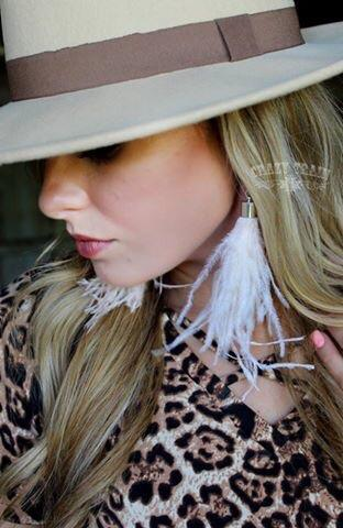 Shake Ya Tail Feather Earrings Ivory