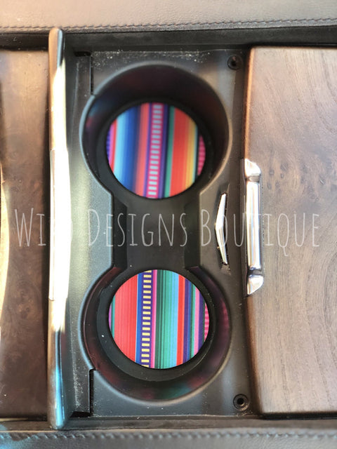 Serape Neoprene Car Coaster