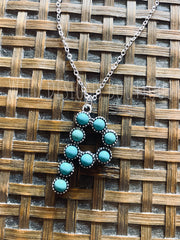 Turquoise Initial Necklace